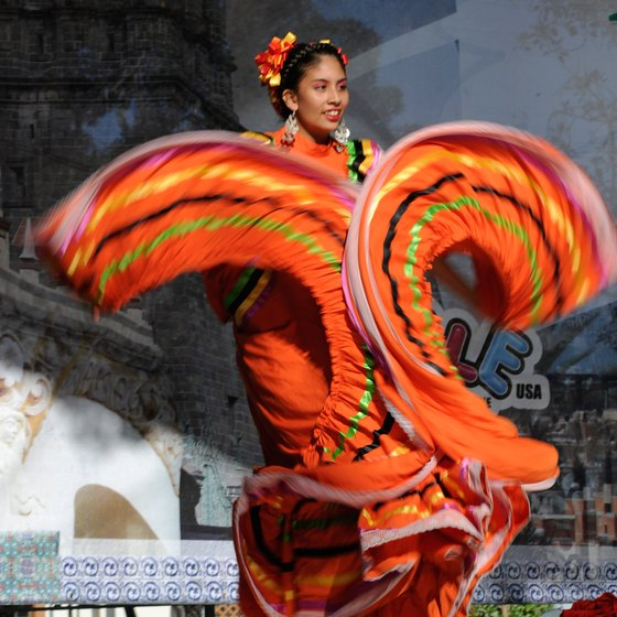 Mexican culture, such as ballet folklorico, is often on display in L.A.