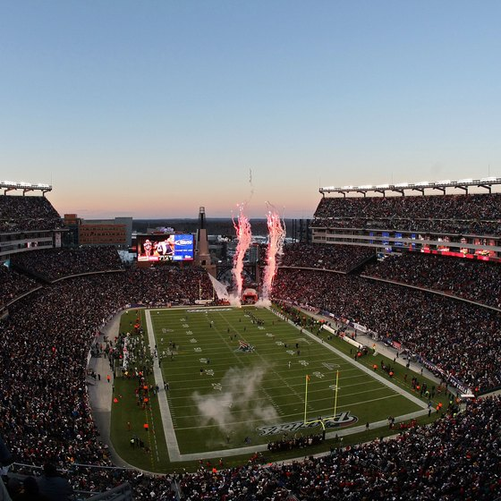 South of Boston, travelers can visit Gillette Stadium, home of the New England Patriots and the Revolution.