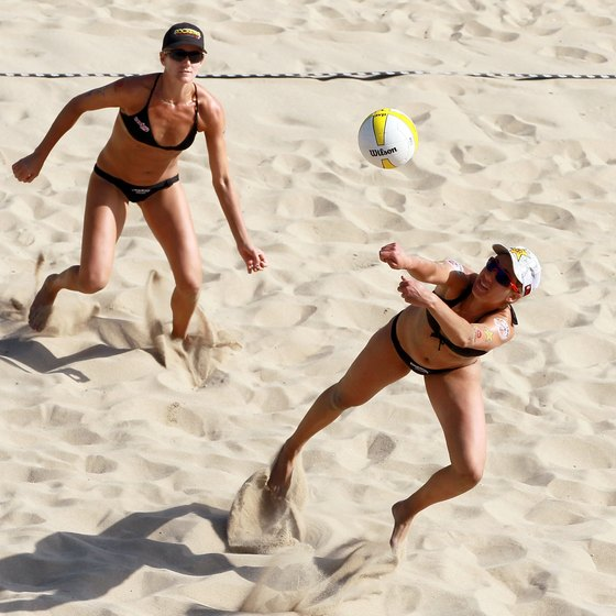 Volleyball on the sand is popular in Hermosa Beach, near Bellflower.
