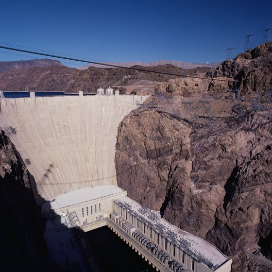 Rafting tours start at the base of Hoover Dam.
