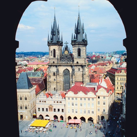 The Týn is in Prague's Old Town Square.