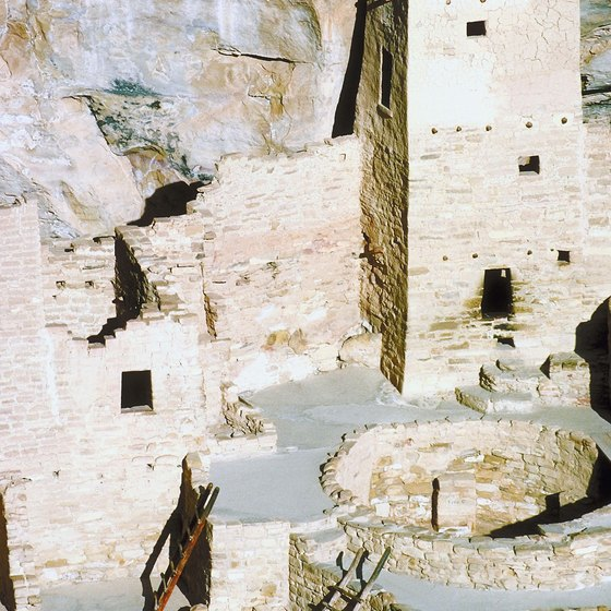 Mesa Verde National Park preserves the home of the Pueblo people.