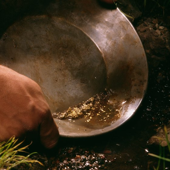 You might get lucky and find yellow specks in your pan when gold panning in Alaska.