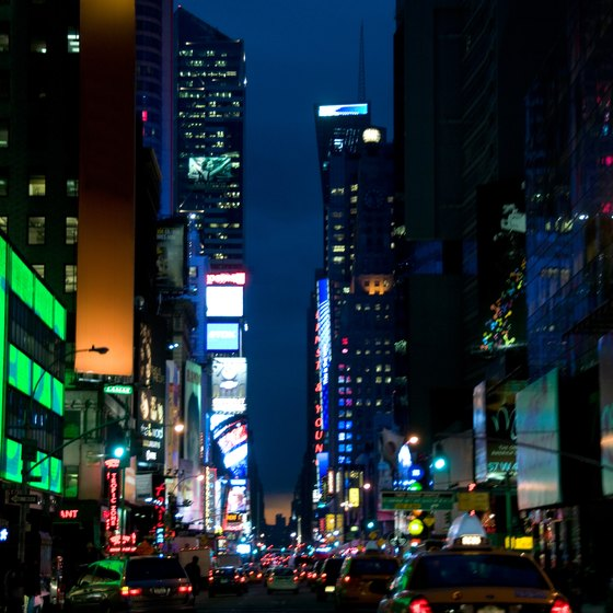 Guests can stay just steps from the heart of Times Square in hotels along 44th Street.