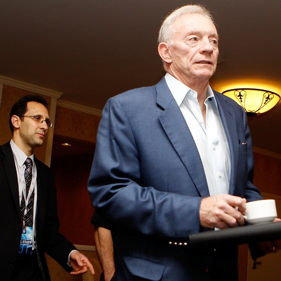 Jerry Jones is the Cowboys owner and driving force behind the building of Cowboys Stadium.