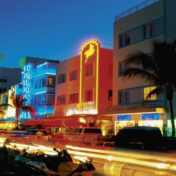 The Art Deco Historic District in Miami Beach is one of the city's most recognizable areas.