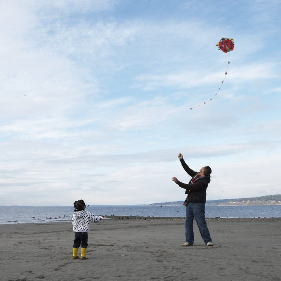 Fly a kite on one of Snohomish County's beaches.