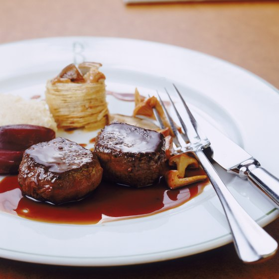 Visitors to Nottingham can feast on filet mignon or ribs at local steakhouses.