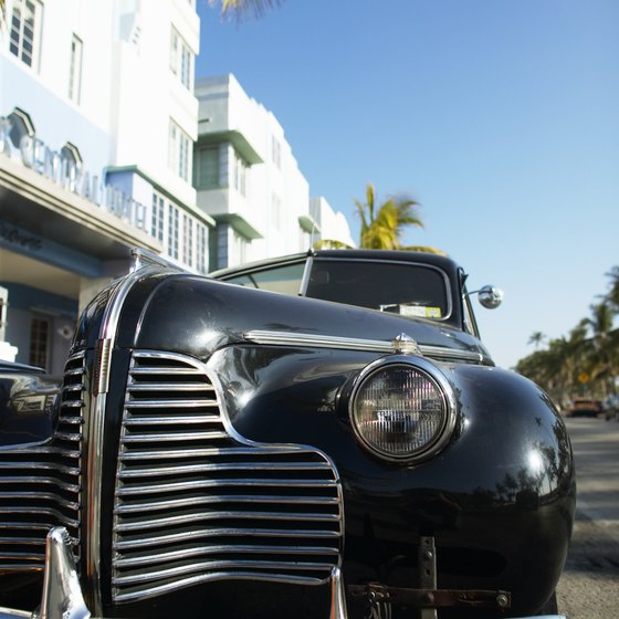 Art Deco hotels and restaurants attract celebrities and gawkers alike.