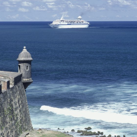 Thousands of tourists cruise to San Juan, Puerto Rico, each year.