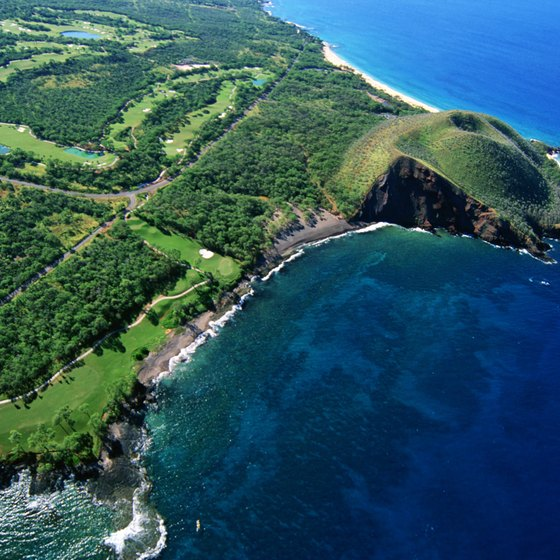 Wai'anapanapa State Park is located on Maui.