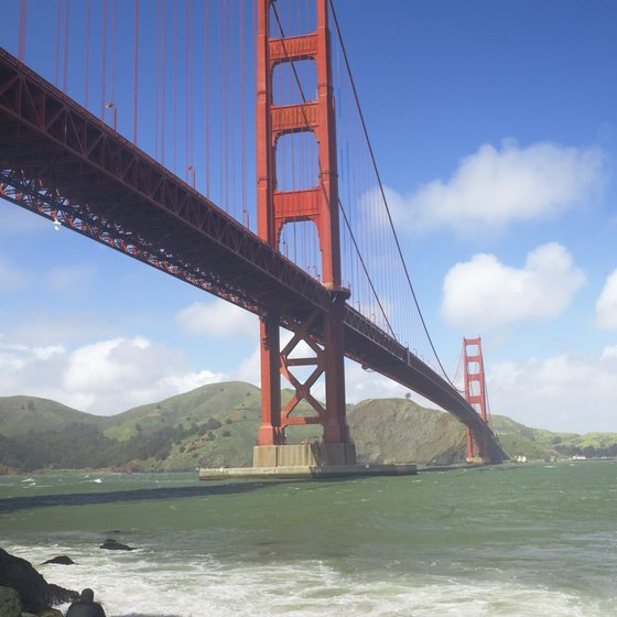 San Francisco's Golden Gate Bridge is the sixth-tallest bridge in California.