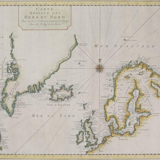 An antique map of Scandinavia and Greenland