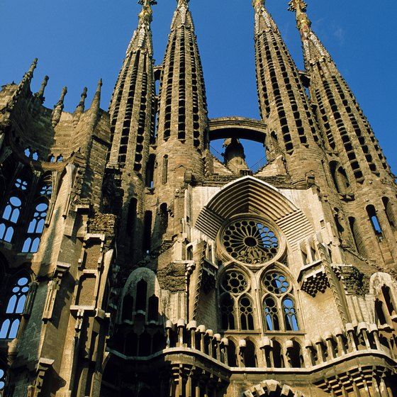 Barcelona's La Sagrada Familia, or Church of the Holy Family, is an artistic landmark.