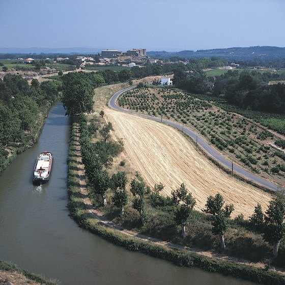 France's Canal du Midi is just one of many navigable waterways.