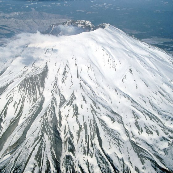 In winter, climbers strap crampons on their feet to reach the Mount St. Helens summit.