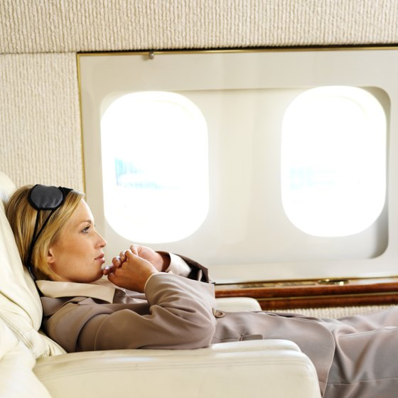 Sleeping is an anxiety-free way to get through your flight.
