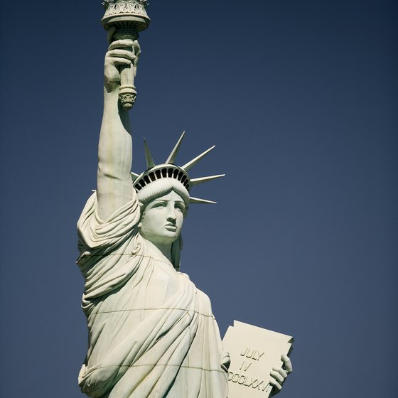 Thousands visit the Statue of Liberty each day.