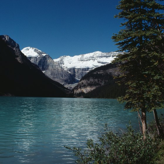 Lake Louise is a major attraction in Banff National Park.