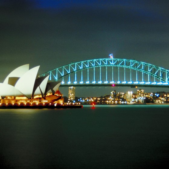 The beloved Sydney Opera House is the centerpiece of Australia's largest city.