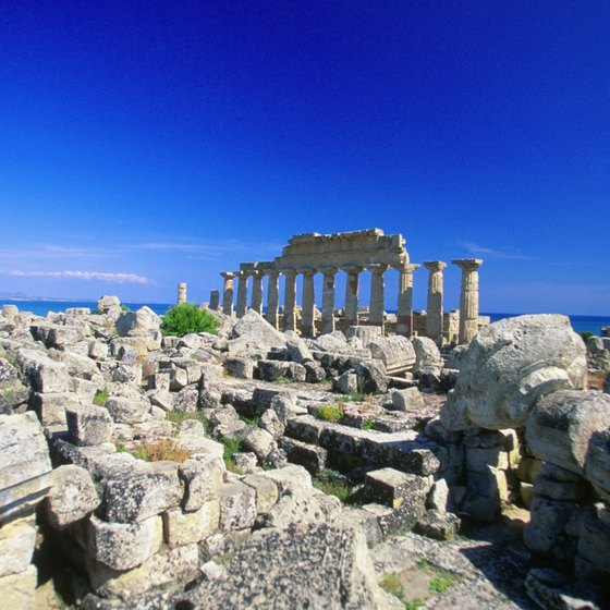 Some of Italy's oldest archaeological ruins can be seen in Sicily.