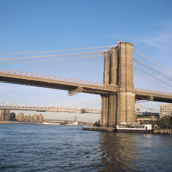 A Circle Line cruise will carry you underneath the Brooklyn Bridge on your day in NYC.