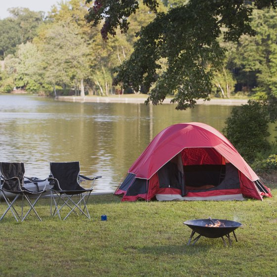Many campgrounds in Charlotte County include lakes.