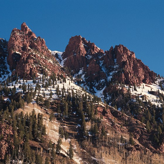 Many hikes lead into the mountains surrounding Aspen.