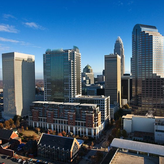 Charlotte has a modern downtown as well as parks and cultural attractions.