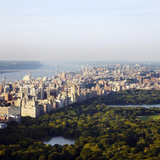 New York City offers romantic activities, including a walk through Central Park.