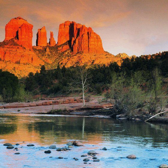 Cathedral Rock as seen from Oak Creek Canyon is an impressive sight.