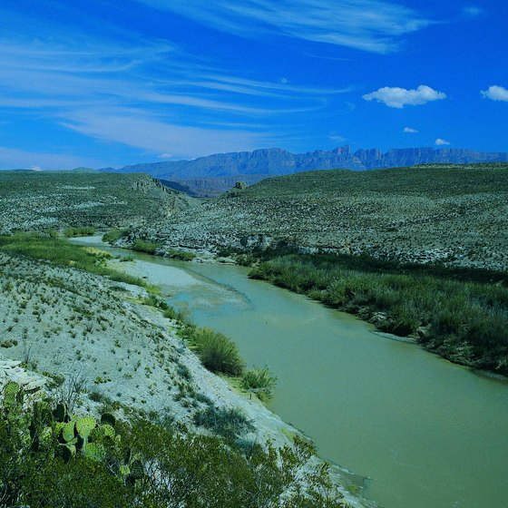 The Rio Grande River runs along the border of Big Bend National Park.