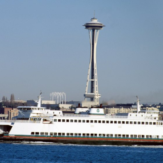 The Space Needle is a tourist attraction in Seattle, Washington.