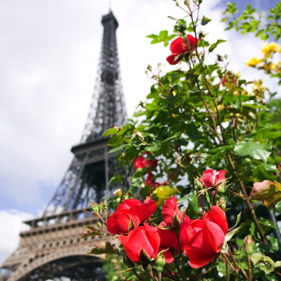 The Eiffel Tower is one of Paris' most recognized landmarks.