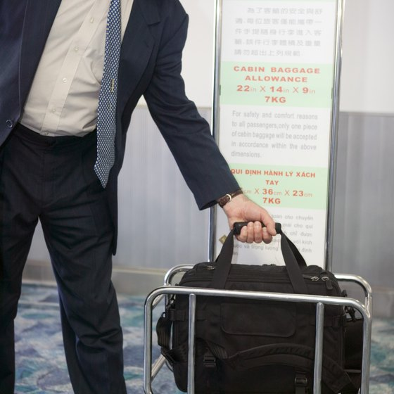 Ensure that your bag fits the requirements before trying to board the airplane.