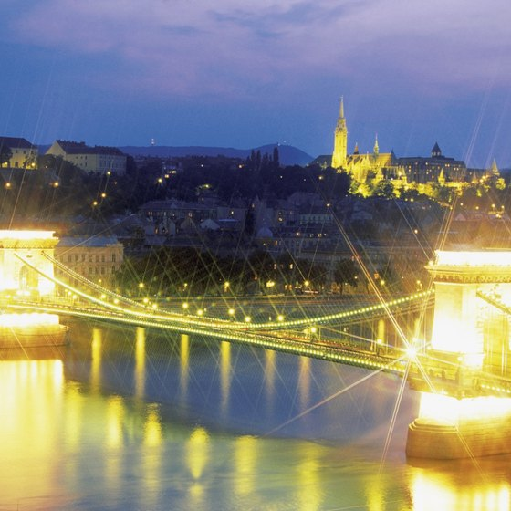 The Chain Bridge across the Danube connects the former cities of Buda and Pest which united to form Hungary's capital, Budapest.