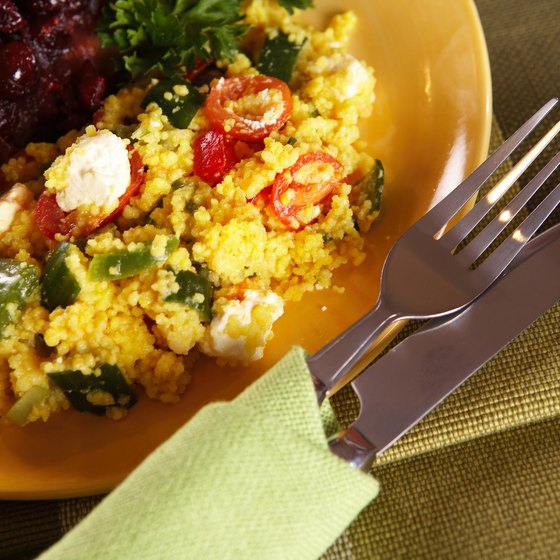 Try a couscous dish while dining on Tunisian food in New York City.