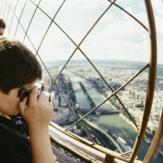 Ride your bike to the Eiffel Tower with your family and enjoy the view.