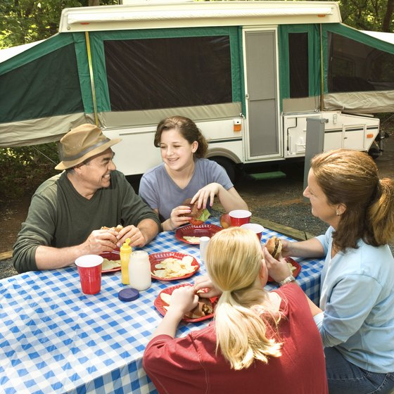 Camping is allowed at two state parks in Ohio's Columbiana County.