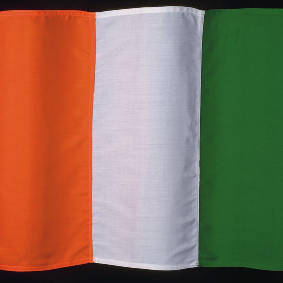 The Ivory Coast flag.