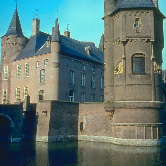 Moats surround many of Holland's medieval castles.