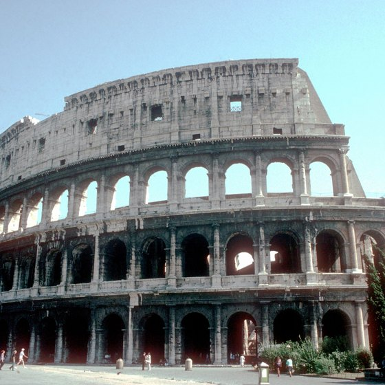 The Colosseum is one of Rome's main attractions.