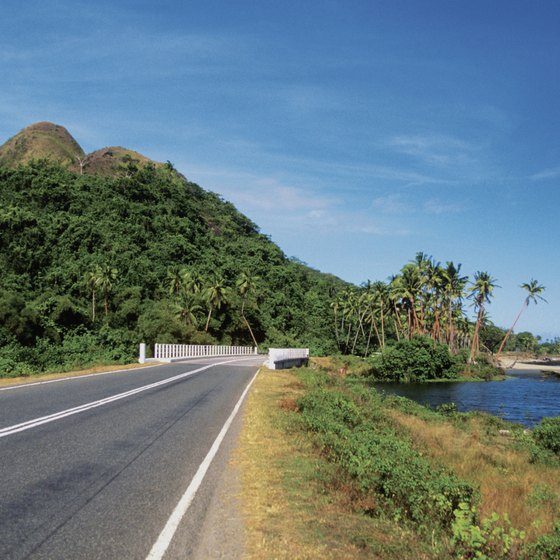 Fiji's landforms include conical volcanoes.