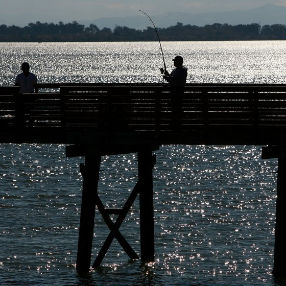 You do not need a fishing license when fishing on a public pier in California.