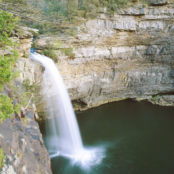 Many visitors to Mentone take in nearby Desoto Falls, one of the more scenic vistas in Alabama.