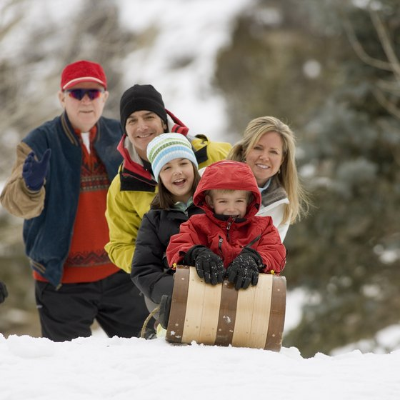 Take the whole family out for an afternoon of sledding in a central Ohio park.