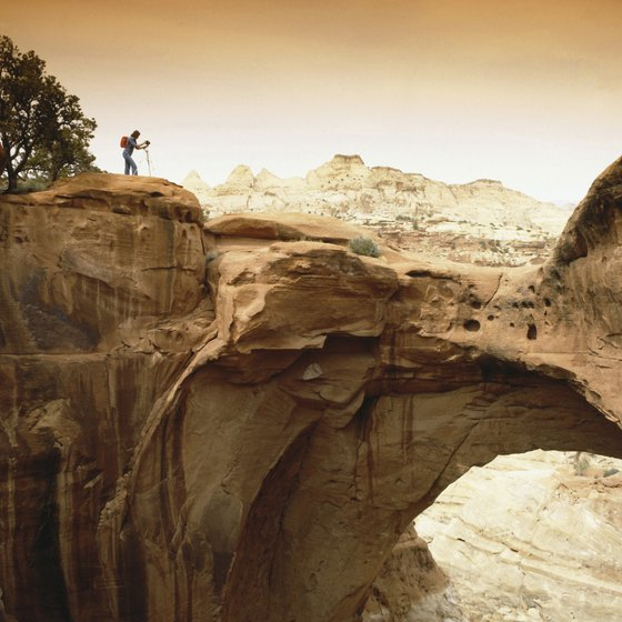 The Lake Powell area in Utah has plenty of hiking opportunities.