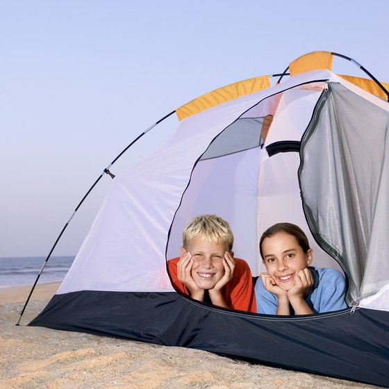 Pitch a tent on the beach.