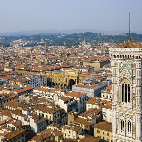 Florence, in the Tuscany region of Italy, is a quick trip from Rome by train.