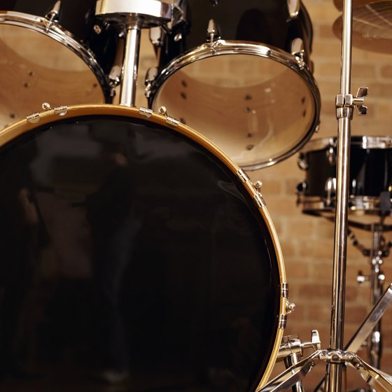A drum set or kit can include dozens of parts.